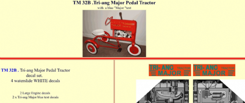 TM32B Tri-ang Major Pedal Tractor